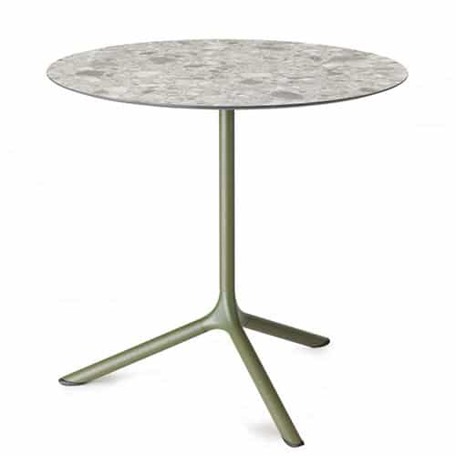 table-restaurant-ronde-originale-trap-verte