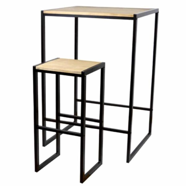 mobilier-bar-industriel-table-haute-metal-bois-cubos