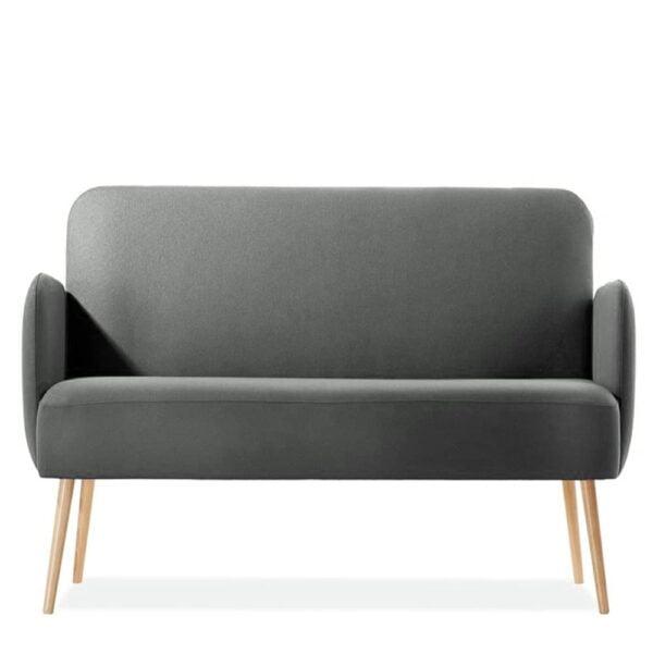 sofa-restaurant-tissu-moderne-deux-places-club-gris