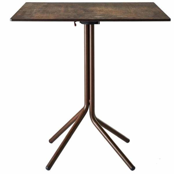 table-pliante-restaurant-plateau-acier-rouille-clik-clak