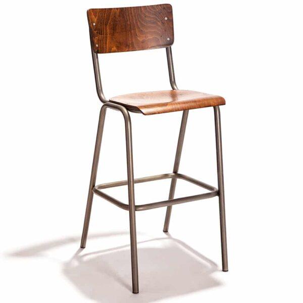 tabouret-haut-bar-bois-acier-vintage-stock