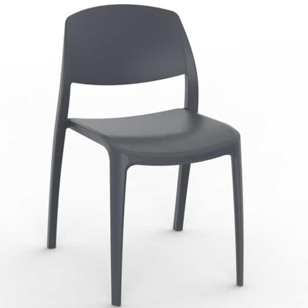 Chaise-empilable-terrasse-restaurant-noires Smile