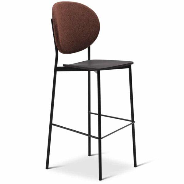 chaise-haute-bar-avec-dossier-tissu-doll-terracota