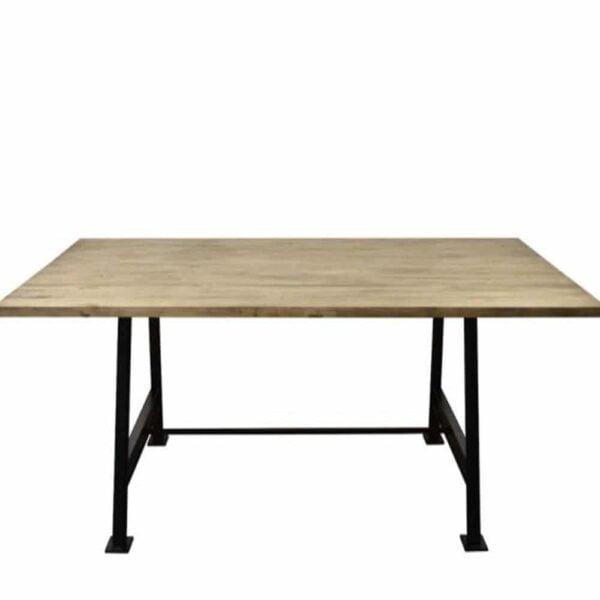 table-industrielle-bois-acier-cheron