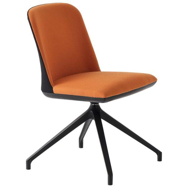 chaise-de-bureau-tissu-pivotante-orange-slimi