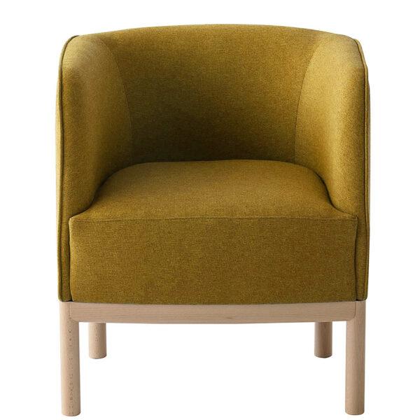 mobilier-design-fauteuil-bas-tissu-jaune-plac-wood