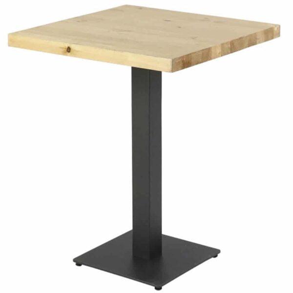 table-bistro-plateau-pin-bois-brut-pied-central-noir-gota