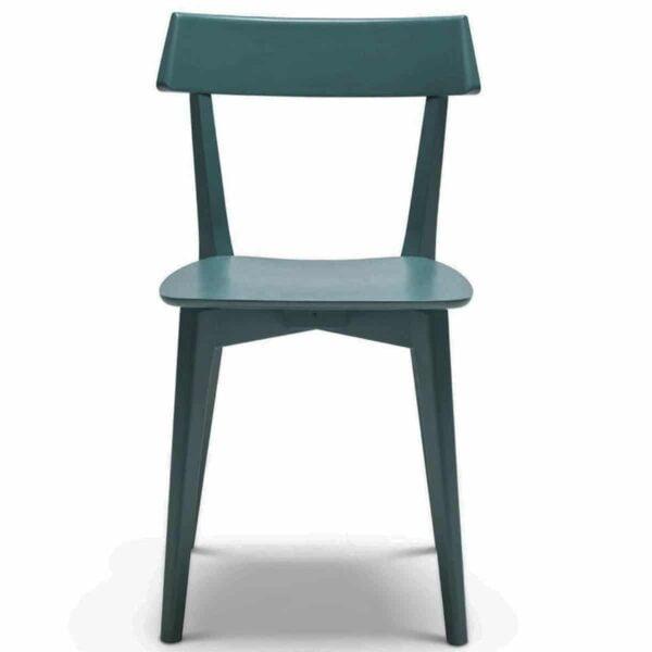 chaise-restaurant-bois-bleu-peinte-moderne-aris