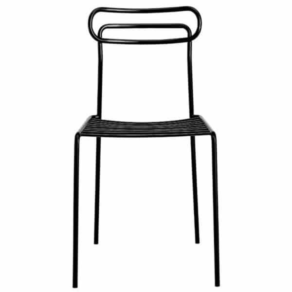 chaise-restaurant-acier-noir-design-Uti