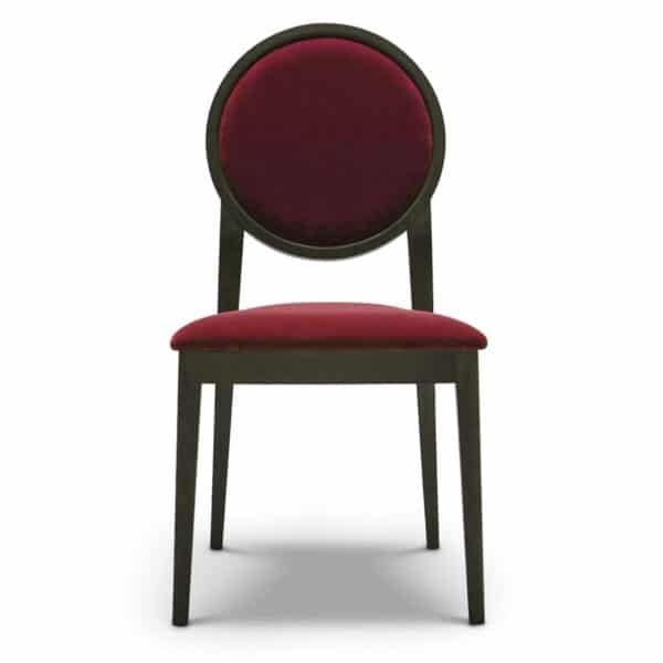 chaise-restaurant-velours-rouge-medaillon-Meddy